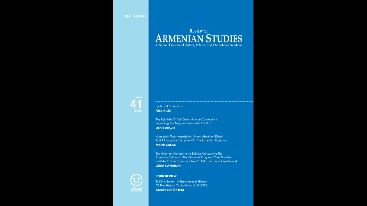 ANNOUNCEMENT: THE 41ST ISSUE OF THE REVIEW OF ARMENIAN STUDIES JOURNAL HAS BEEN PUBLISHED